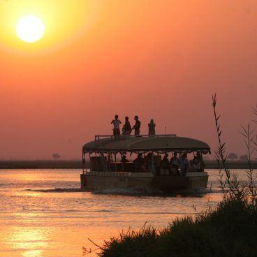 Sunset cruise Chobe rivier