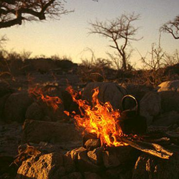 South Africa and Botswana Kubu Island