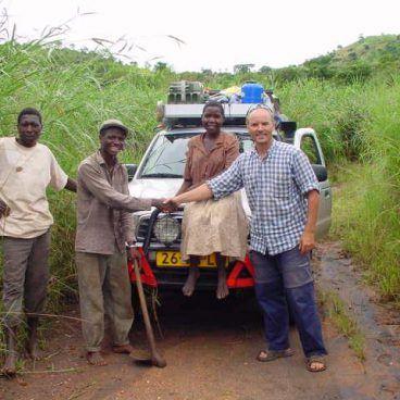 Hans Schoelink op safari in Botswana
