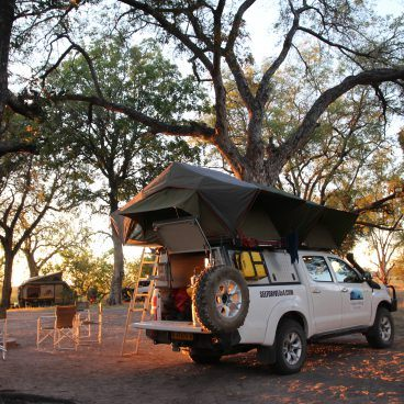 Xakanaxa campsite Moremi Game Reserve