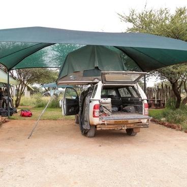 Erindi Camp Elephant parking your 4x4 car